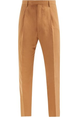 Umit Benan B+ Men Pants - Andy Pleated Twill Suit Trousers - Mens