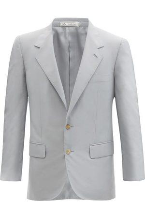 Umit Benan B+ Richard Single-breasted Silk-twill Suit Jacket - Mens - Light
