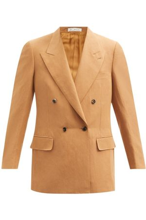 Umit Benan B+ Andy Double-breasted Twill Suit Jacket - Mens