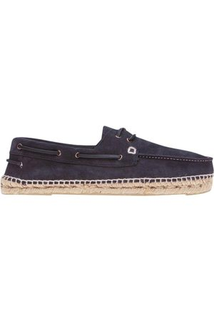 MANEBI MANEB MEN'S K15K0SUEDEPATRIOTBLUE LEATHER ESPADRILLES