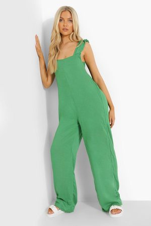 Boohoo Women Jumpsuits - Womens Cheesecloth Tie Back Jumpsuit - - 4