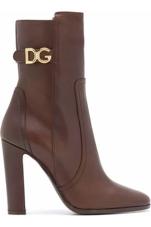 Dolce & Gabbana DOLCE E GABBANA WOMEN'S CT0669AW67380048 LEATHER ANKLE BOOTS