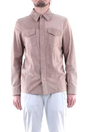 EMANUELE CURCI Men Leather Jackets - Leather jackets Men Taupe