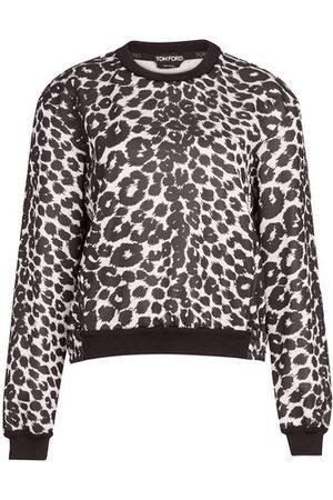 Tom Ford Women Long sleeves - Ikat leopard print on fleece top