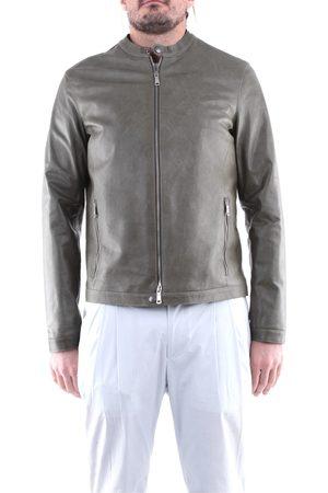 EMANUELE CURCI Men Leather Jackets - Leather jackets Men Military