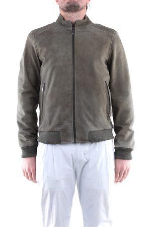 EMANUELE CURCI Leather jackets Men Military