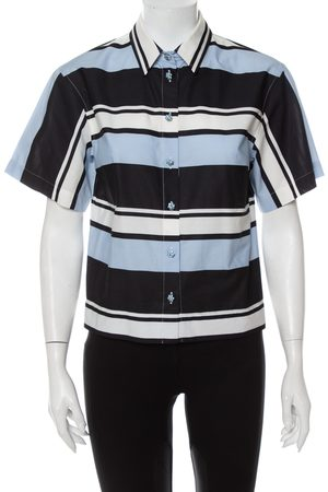 Dolce & Gabbana Striped Cotton Cropped Button Front Shirt M