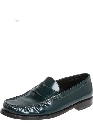 Saint Laurent Saint Laurent Leather Penny Slip On Loafers Size 42
