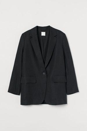 H&M Women Blazers - Oversized Linen-blend Jacket