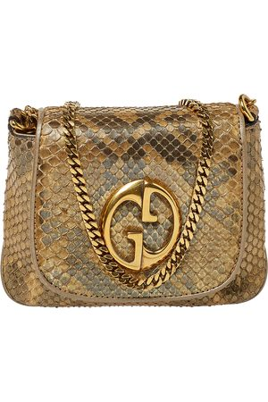 Gucci Metallic Python GG Chain Shoulder Bag