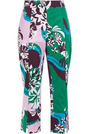 Emilio Pucci Woman Cropped Printed Cotton-blend Straight-leg Pants Size 44