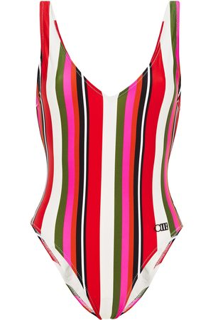 Solid Woman The Michelle Striped Swimsuit Size L