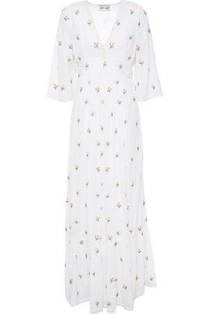 Antik Batik Women Maxi Dresses - Woman Oriane Embellished Cotton-mousseline Maxi Dress Size 36