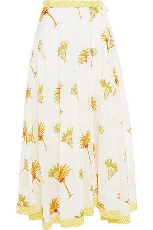Antik Batik Woman Palmy Printed Cotton-mousseline Maxi Skirt Ivory Size 36