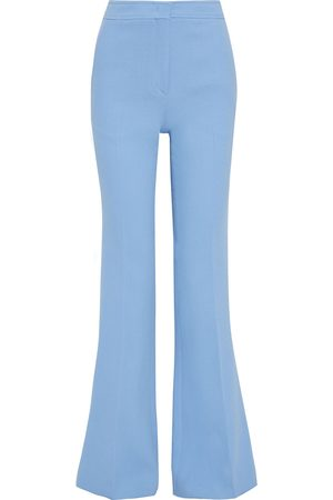 Emilio Pucci Woman Grosgrain-trimmed Crepe Flared Pants Light Size 40