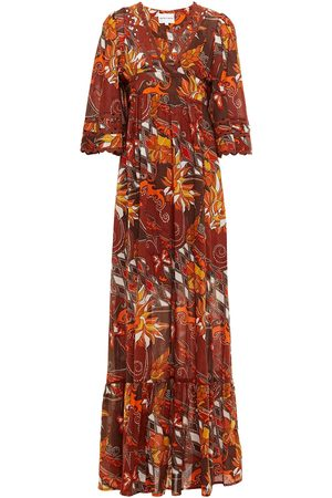 Antik Batik Woman Ramba Rickrack-trimmed Printed Cotton Maxi Dress Size 36
