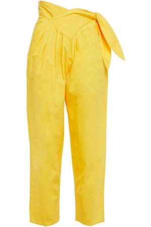 ANTIK BATIK Women Pants - Woman Cropped Pleated Cotton-poplin Tapered Pants Size 36