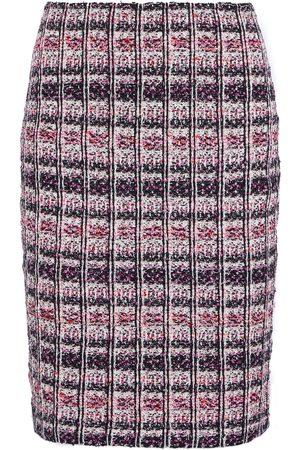 ST. JOHN Woman Metallic Bouclé-tweed Skirt Size 2