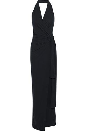 Norma Kamali Woman Stretch-jersey Halterneck Wrap Gown Size L