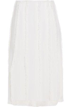 EMILIO PUCCI Woman Frayed Gauze Midi Skirt Size 38