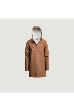 Stutterheim Stockholm hooded raincoat Cognac