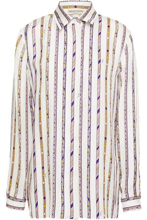 Emilio Pucci Woman Printed Silk-twill Shirt Size 38