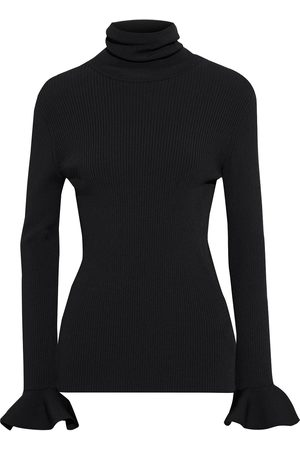 VALENTINO Women High Necks - Woman Fluted Ribbed-knit Turtleneck Top Size L