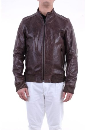 EMANUELE CURCI MEN'S LUCIANOVINTAGENOCCIOLA LEATHER OUTERWEAR JACKET