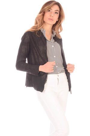 SALVATORE SANTORO Women Jackets - Giacca Zip Pelle