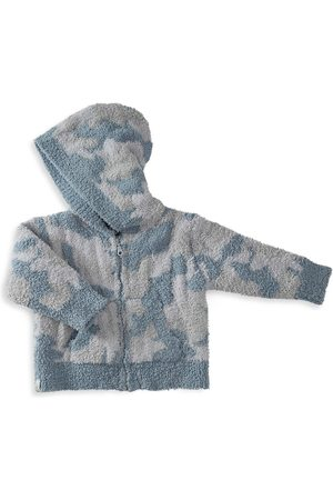 Barefoot Dreams Hoodies - Baby Boy's CozyChic Camo Zip-Up Hoodie - Ocean Multi - Size 18 Months