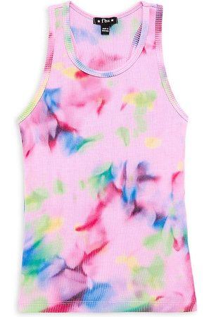 Flowers By Zoe Girl's Tie-Dye Ribbed Tank - Size 7