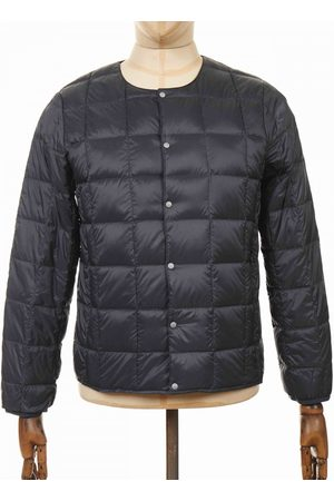 TAION Crew Neck Button Down Jacket - Charcoal