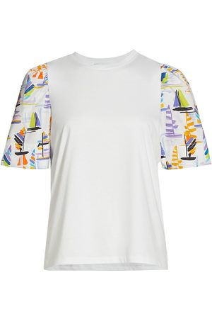 TANYA TAYLOR Women's Elle Multicolor Sailboat-Print Sleeve T-Shirt - Multi - Size Small