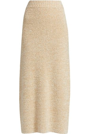 The Row Women's Caluso Twisted Cashmere & Silk Midi Skirt - Off/ - Size XS