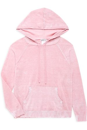 MINNIE ROSE Little Girl's & Girl's Reverse Print Hoodie - Sand - Size 6
