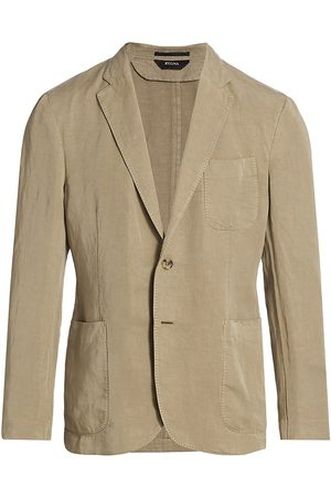 Z Zegna Men's Patch Pocket Sportcoat - - Size 46