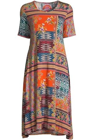 JOHNNY WAS Women's Allie Flower Swing Dress - Size Medium