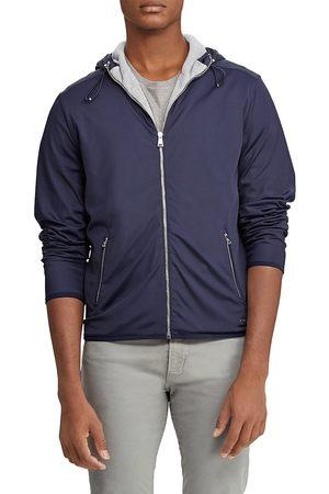 Ralph Lauren Men Hoodies - Men's Cotton Full-Zip Hoodie - Navy - Size Small