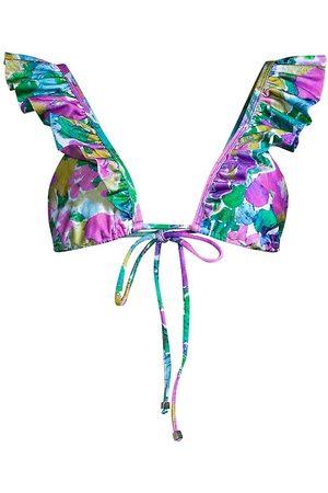 PATBO Women Bikinis - Women's Gabi Ruffle Bikini Top - - Size Large