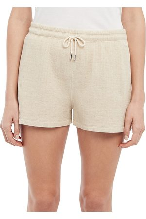 THEORY Women's Drawstring Shorts - Oatmeal - Size Medium