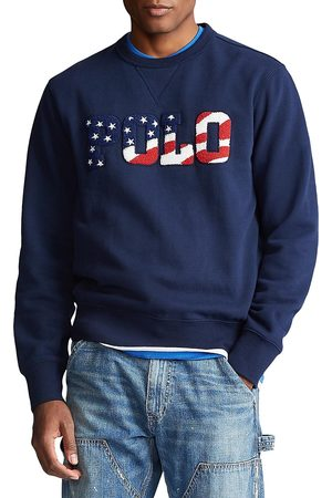Polo Ralph Lauren Men Polo Shirts - Men's Magic Fleece Polo Sweatshirt - Cruise Navy - Size XXL