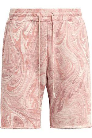 Joes Jeans Men's Marble Tie-Dye Fleece Shorts - Rose - Size Medium
