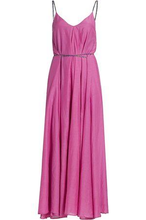 Rhode Women's Sophia Tie-Waist A-Line Maxi Dress - Violet - Size XS