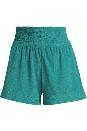 Simon Miller Women's Melia Terry Knit Shorts - Pool - Size XS