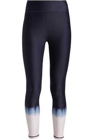 The Upside Women Leggings - Women's Seawater Dip-Dye Cropped Leggings - Navy - Size Small