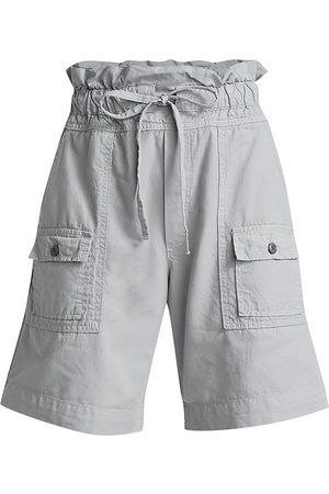 NSF Women Sports Shorts - Women's Troy High-Rise Shorts - Pale Grey - Size XS