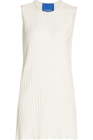 Simon Miller Women Tunics - Women's Aukai Rib-Knit Tunic - Macadamia - Size Medium