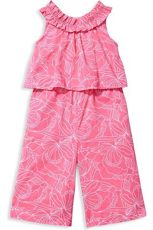 Janie and Jack Girls Jumpsuits - Little Girl's & Girl's Floral Jumpsuit - - Size 8
