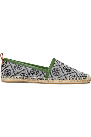 Tory Burch Women Espadrilles - Women's T Monogram Jacquard Espadrilles - Perfect Grey - Size 9.5