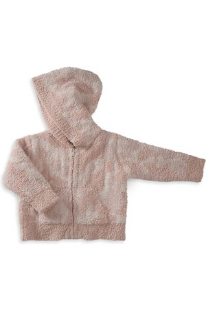 Barefoot Dreams Baby Girl's CozyChic Camo Zip-Up Hoodie - Dusty Rose - Size 18 Months